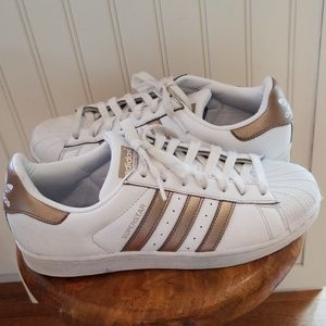 Adidas Superstar Cyber Metallic Tennis Shoes